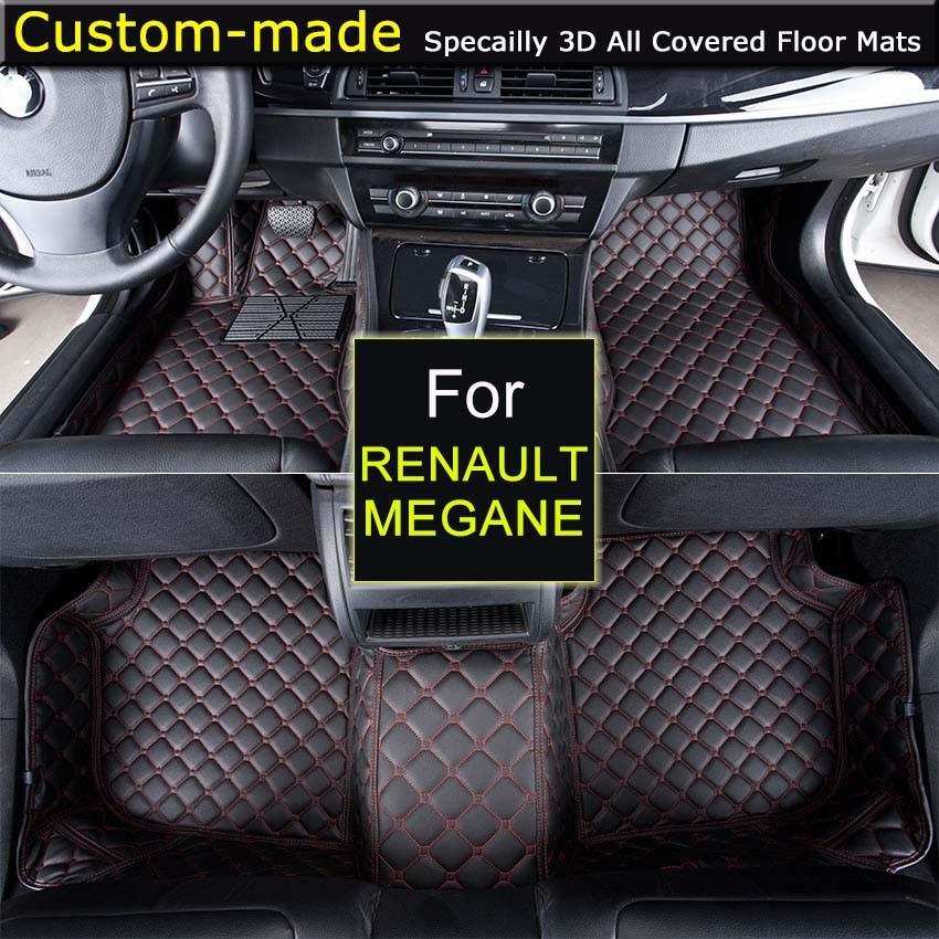 Car Floor Mats For Renault Megane Car Styling Foot Rugs Carpets
