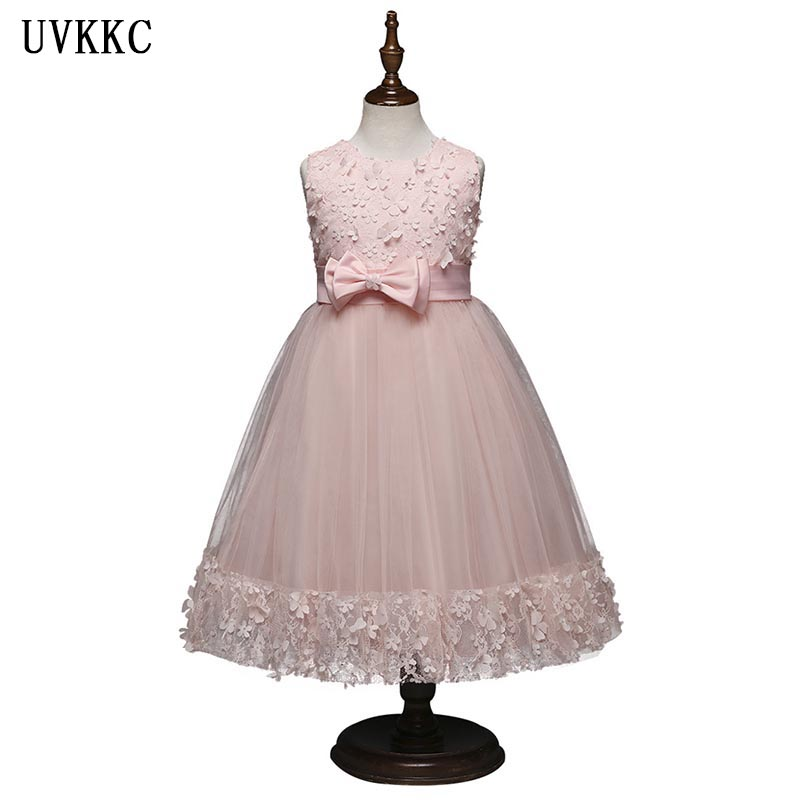 UVKKC Baby Dress Kids Party Wear Princess Costume For Girl Tutu Bebes Infant 10 Year Birthday Dresses Girl Summer Wedding Dress new baby girl clothing sets lace tutu romper dress jumpersuit headband 2pcs set bebes infant 1st birthday superman costumes 0 2t