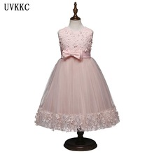 ФОТО uvkkc baby dress kids party wear princess costume for girl tutu bebes infant 10 year birthday dresses girl summer wedding dress