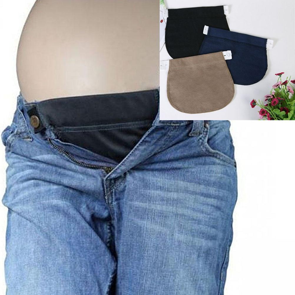 Maternity Pregnancy Waistband Belt ADJUSTABLE Elastic Waist Extender Pants