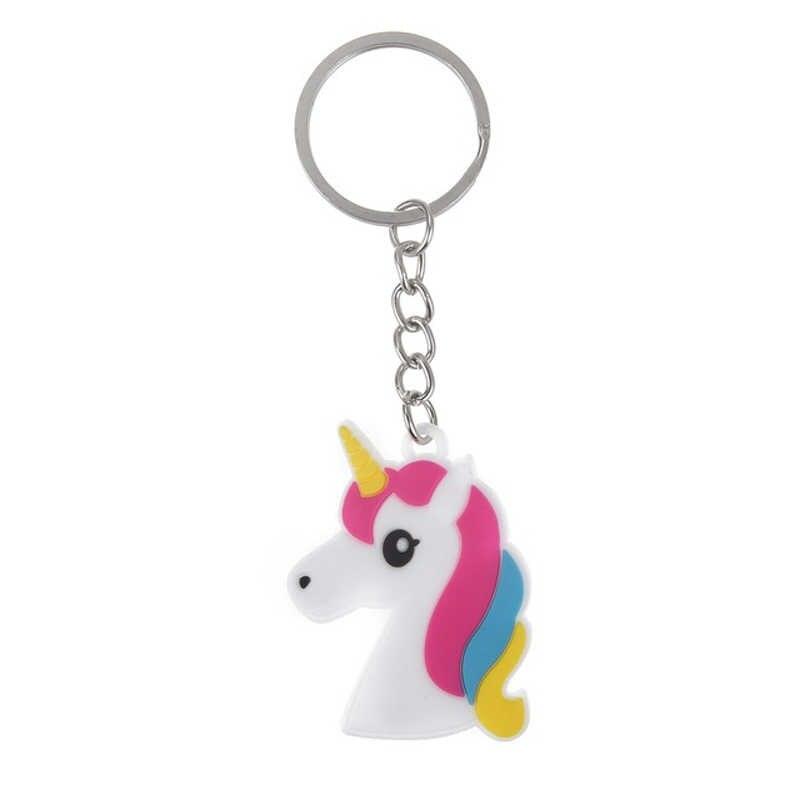 Hợp thời trang Diy Dễ Thương Câu Chuyện Cổ Tích PVC Unicorn Keychain Đa-phong cách Horse Key Nhẫn Chủ Hợp Kim Key Chain Đối Với Phụ Nữ Cô Gái quà tặng Trang Sức
