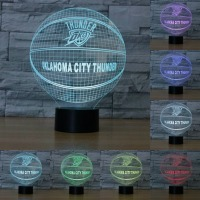 3D Illusion Night Light OKLAHOMA CITY THUNDER LED Table Lamp Micro USB LED Night Light Touch
