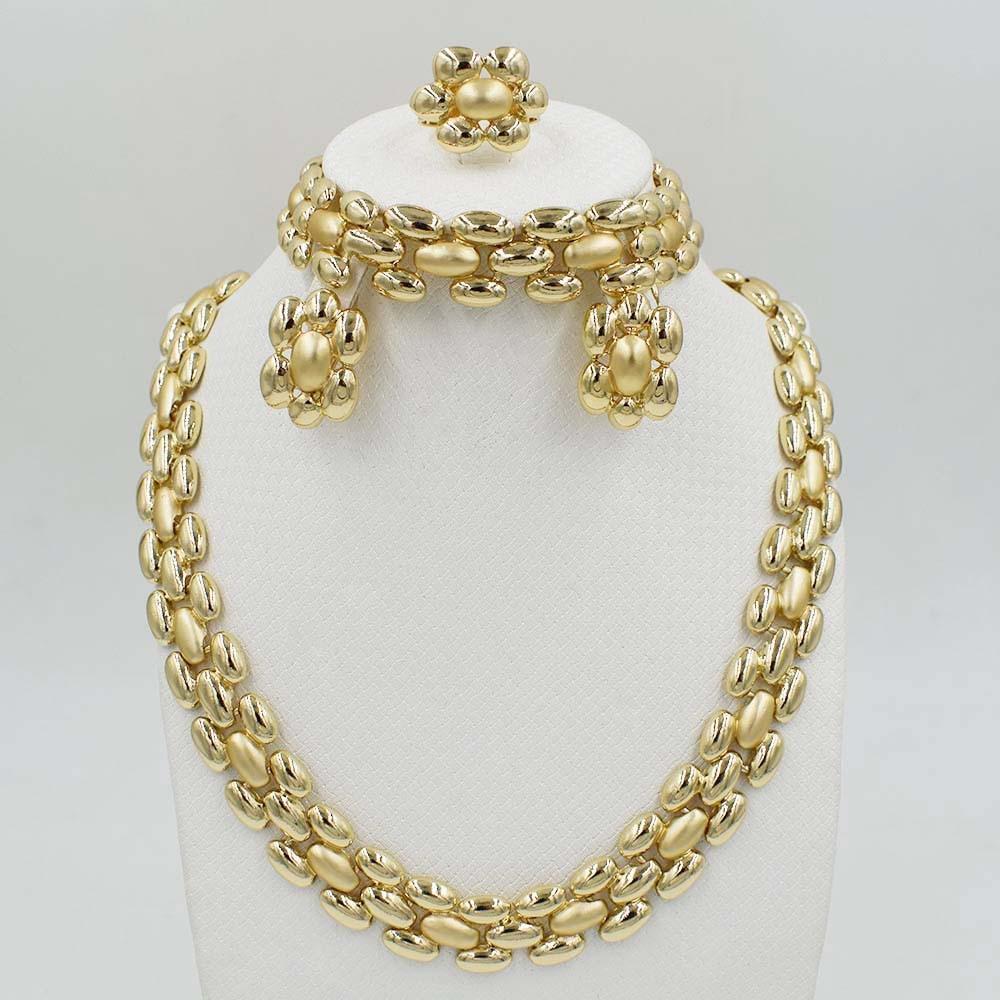 2017Dubai Jewelry Set filled Necklace bracelet, Women Indian elegant wedding for party Dubai Fashion beads Jewelry S