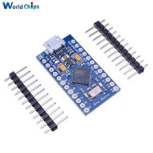 Image 1 - 5Pcs Pro Micro USB ATmega32U4 3.3V 8MHz Board Module For Arduino ATMega 32U4 Controller Pro Micro Replace ATmega328