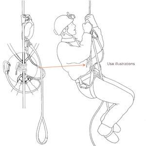 Image 5 - Lixada Outdoor Brust Ascender Klettern Ascender Vertikale Seil Zugang Klettern Bauch Ascender