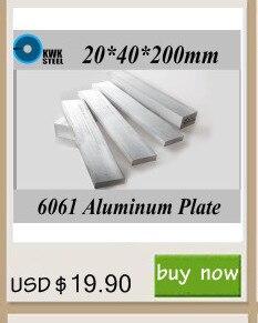 20*40*200mm 6061 Placa de Liga de Alumínio