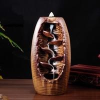 Smoke Backflow Incense Burner Ceramic Censer Smell Removing Aroma Furnace Living Room Incense Burner Home Fragrance Oil