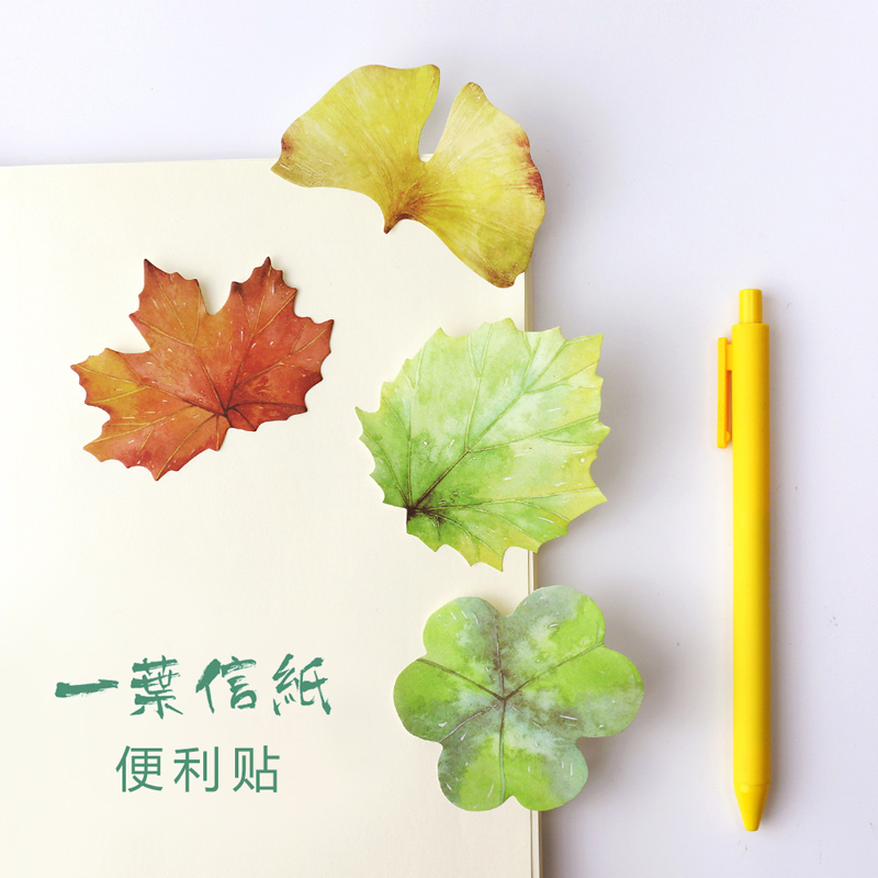 1 x novelty Various Leaf memo pad sticky note paper sticker kawaii stationery pepalaria office school supplies 500 page loose leaf note paper 90 90 mm note paper office supplies 1125