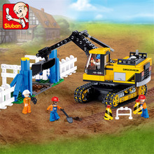 614pcs City Heavy Crawler Excavator Model Building Blocks Enlighten Figures Educational Toys For Children Christmas Gift qunlong 649pcs my world volcanic detection minecrafted model figures building blocks enlighten diy brick toys for children 0523