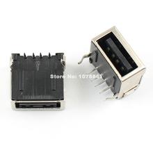 20 sztuk rodzaj USB A kobieta 4 gniazdo kołkowe złącze AF90 tanie tanio HUAIHUASC CN (pochodzenie) Rohs