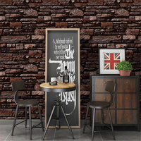 beibehang High grad Nostalgic marble industrial brick imitation brick wallpaper restaurant bar barber shop retro brick wallpaper