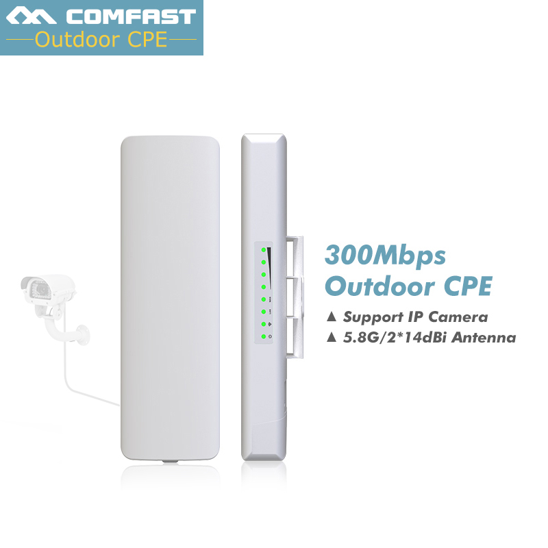 5Pcs, 5.8GHZ 300Mbps Comfast Wireless Outdoor Router long Range CPE AP Waterproof Antenna Wifi Repeater Access Point Amplifier original xiaomi wifi repeater electric cat wifi rounter modem wireless range extender router access point signal amplifier