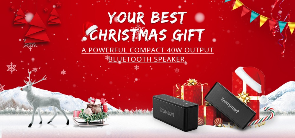 Tronsmart Element Mega Bluetooth Speaker Wireless Speaker 3D Digital Sound TWS 40W Output NFC 20m Portable Speaker MicroSD Card