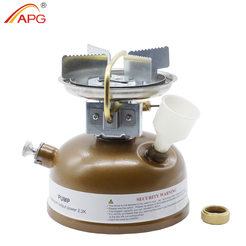APG Camping Gasoline Stove Oil Burners Outdoor Cookware Non Preheating Liquid Fuel Stove