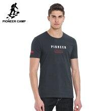 Pioneercamp Новинка 2017 года Мужская футболка брендовая одежда модная футболка мальчиков наивысшего качества Stetch с коротким рукавом Повседневная мужская футболка