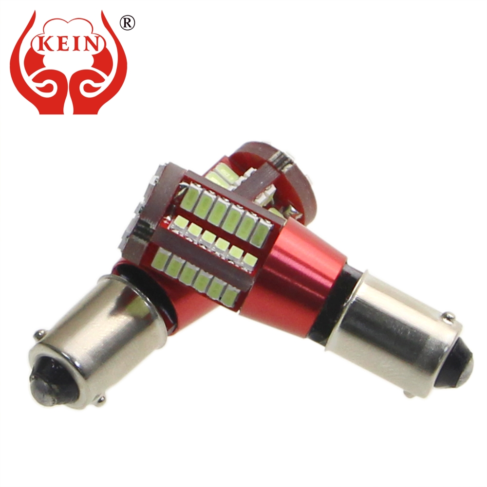 KEIN 2PCS 57SMD BA9S T4W led car Side Wedge lights License Plate Door Tail Bulb Rear fog Parking Signal indicator Lamp white red