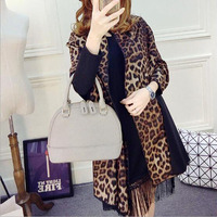 2017 New Fashion Lady Blanket Scarf Scarves Leopard Cashmere Scarf Thicker Shawl Double Sided Long Dual