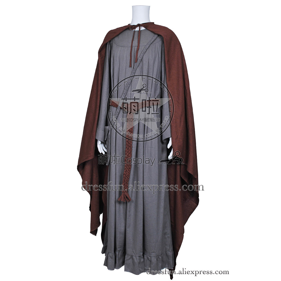 The Lord of the Rings Cosplay The Fellowship of the Ring Gandalf Costume Cape Robe Outfits Halloween Fashion Party Fast Shipping