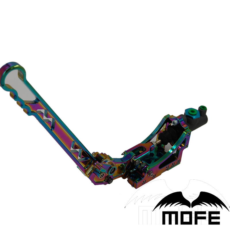 Mofe New Products Neo Chrome Hydraulic Handbrake with oil tank low price frein a main hydraulique