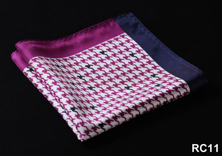 RC11 HN24P Purple Navy Blue Houndstooth 34cm