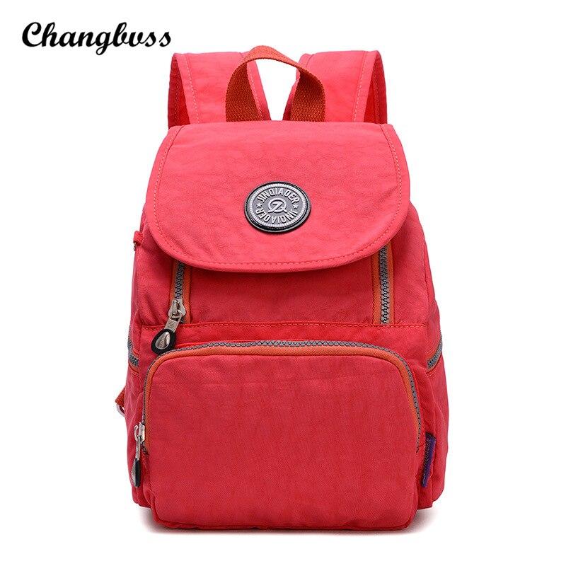 New Brand Preppy Style Men Women Backpacks Nylon Backpacks For Teenage Girls Fashion Zipper Schoolbag Backpack