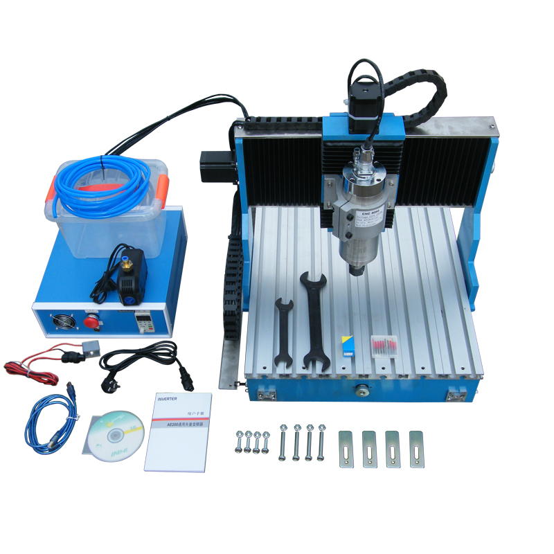 3axis linear guideway wood cnc router 6040 4axis metal engraver drilling machine 1500W spindle with limit switch