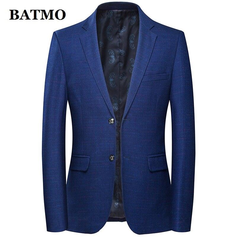 Batmo 2019 הגעה חדשה באיכות גבוהה צמר משובץ מקרית בלייזר גברים, גברים של חליפות מעילים, מקרית מעילי גברים 8122