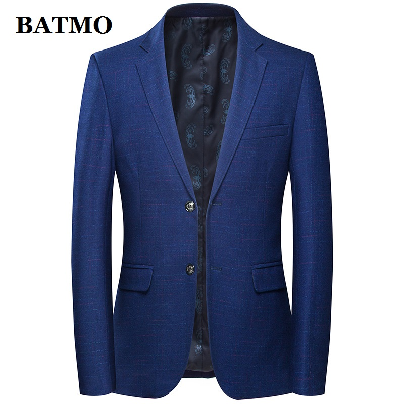 Batmo 2019 New Arrival High Quality Wool Plaid Casual Blazer Men,men's Suits Jackets ,casual Jackets Men 8122