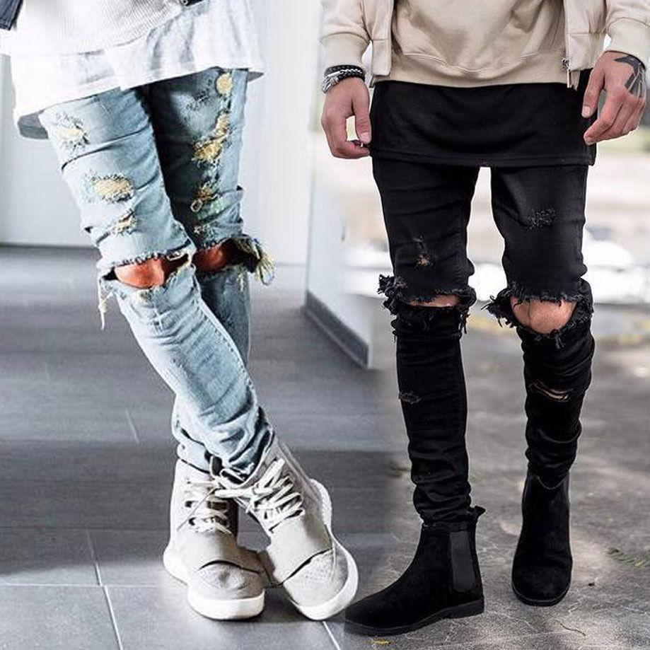 NEW Arrivals Fashion Jeans Men's Straight Slim Casual Pants Denim Jeans Pants Skinny Trousers