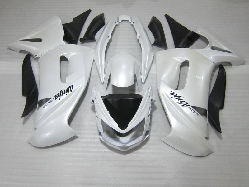 Бесплатный 7 подарки обтекатель комплект для Кавасаки ниндзя 650р 06 07 08 белый черный обтекатели комплект 650р 2006 2007 2008 OW02