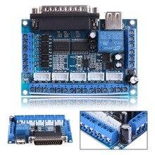 Tarjeta de expansión PCI, adaptador USB LPT, interfaz de controlador de Motor paso a paso CNC DC 12 24V con Cable USB para Mach3 WIN XP