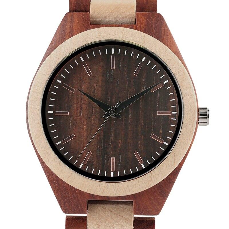 YISUYA Men's Ebony Wooden Watch Wood Strap Quartz Analog Creative Wristwatch Simple Nature Bamboo Male Watches Clock saat (30)
