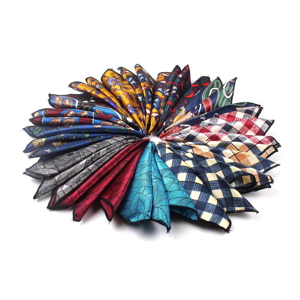 Pañuelo de bolsillo cuadrado Floral para hombres para trajes 23cm * 23cm pañuelos para hombres para mujeres trajes de marca pañuelo de bolsillo