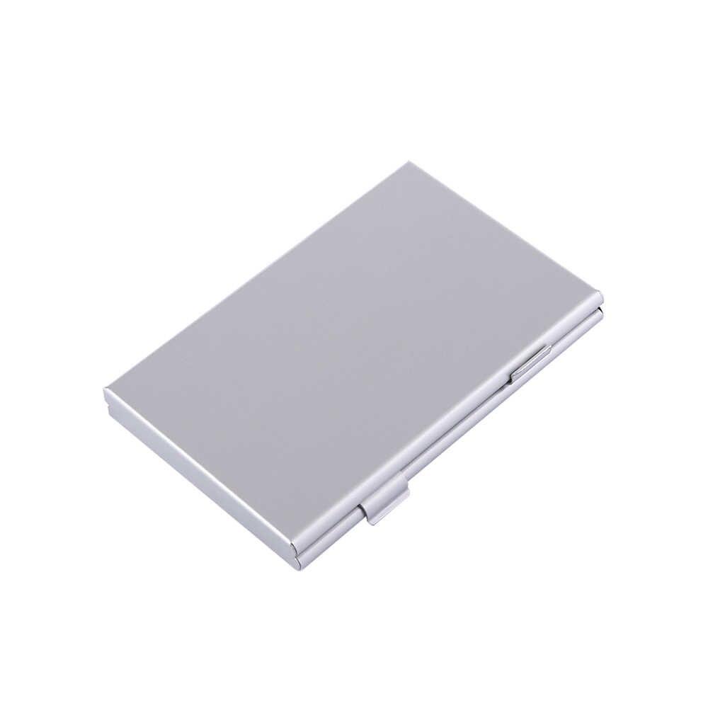 Étui de rangement pour carte mémoire en alliage d'aluminium à Double couche d'argent support de la boîte étui de protection pour carte Micro SD 24TF