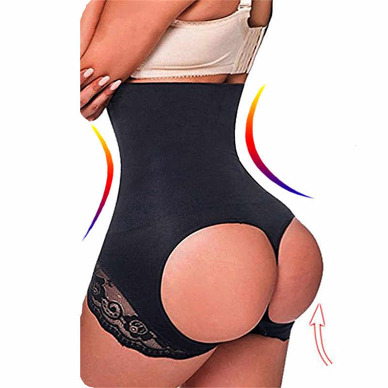 6e797a46e8737 Shapewear Women Butt Lifter Panties High Waist Trainer Sexy Circle Open Invisible  Tummy Control Booty Lift