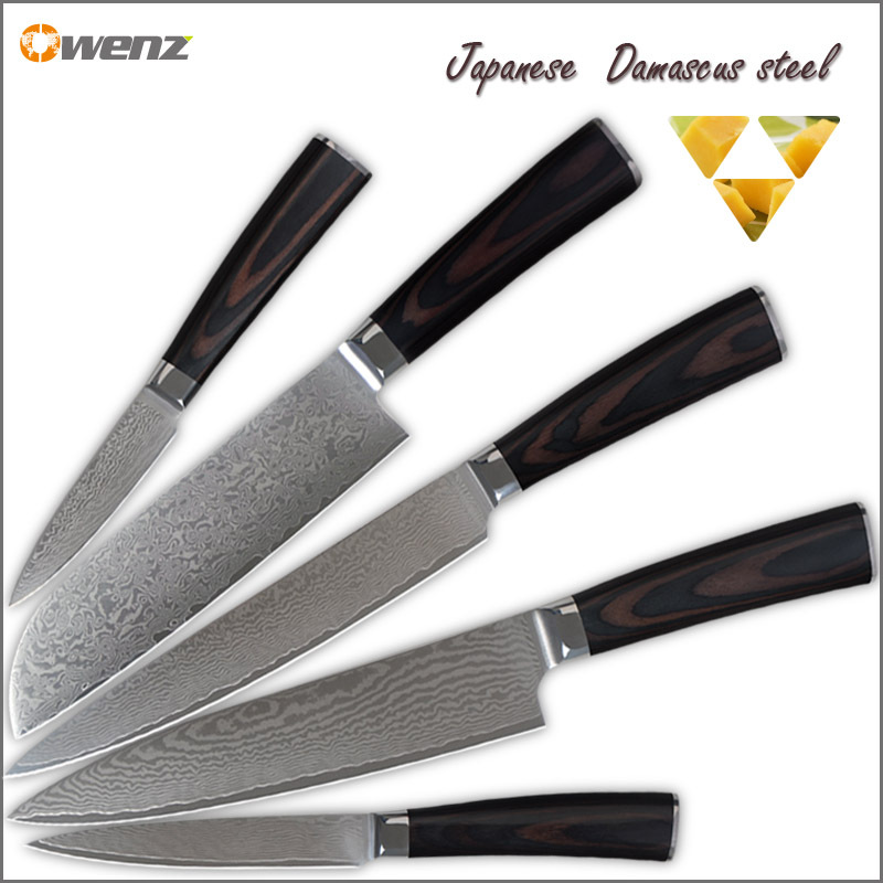 Best damascus kitchen knives set aus 10 damascus steel 8 for Best kitchen set