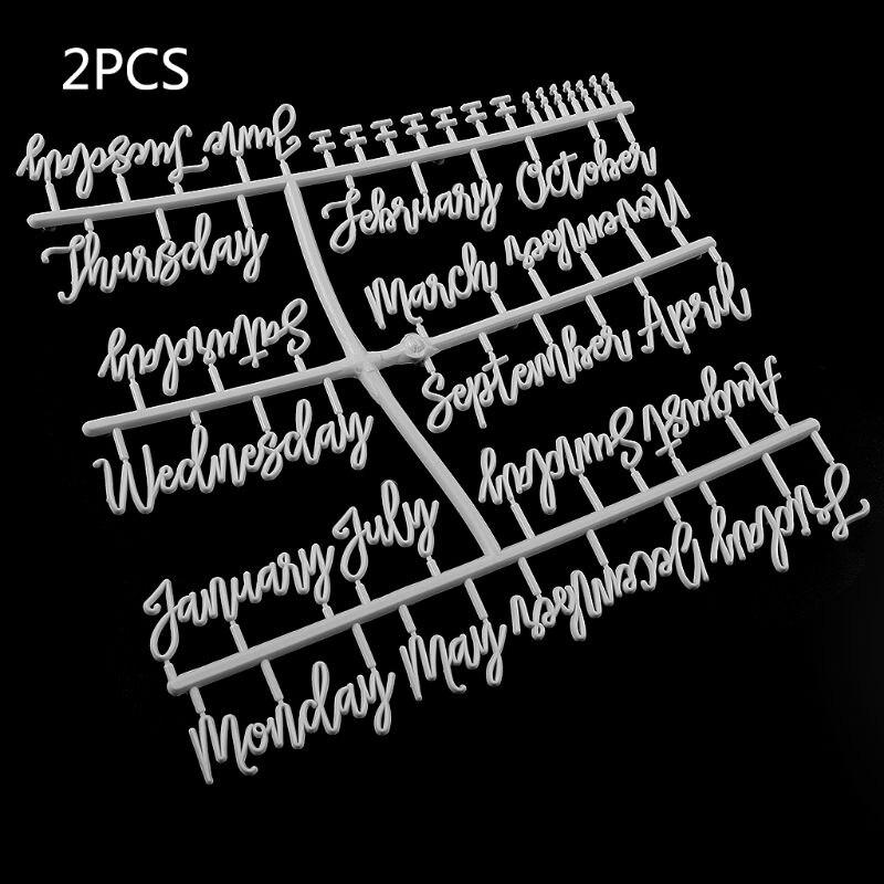 Zeichen Für Filz Brief Bord Monat Woche Buchstaben Für Veränderbare Brief Bord Reißbrett Büro- und Schulmaterial -