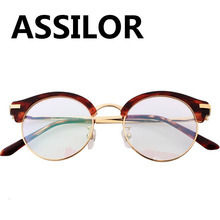 Pure Titanium 2018 New man Woman Retro Round Glasses Anti-Corrosion Granny Chic Full Frame Rounded spectacles Eyeglasses