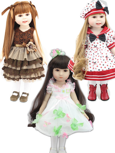 18 45cm Baby Sleeping Dolls Girl Doll Realistic Baby Toys Birthday Gift for Girls As American Girl Dolls Educational DIY Toy [mmmaww] christmas costume clothes for 18 45cm american girl doll santa sets with hat for alexander doll baby girl gift toy