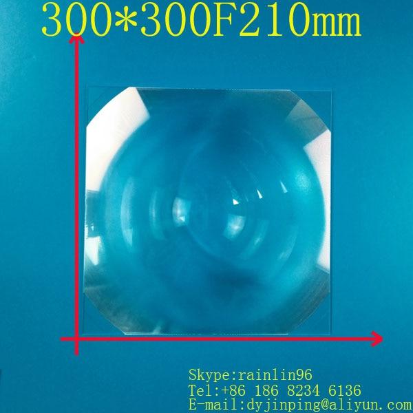 Lentille Fresnel carré 300*300 MM focale 210mm, bonne lentille, grossissement 4-5 fois, projecteur de bricolage à amplification concentrée