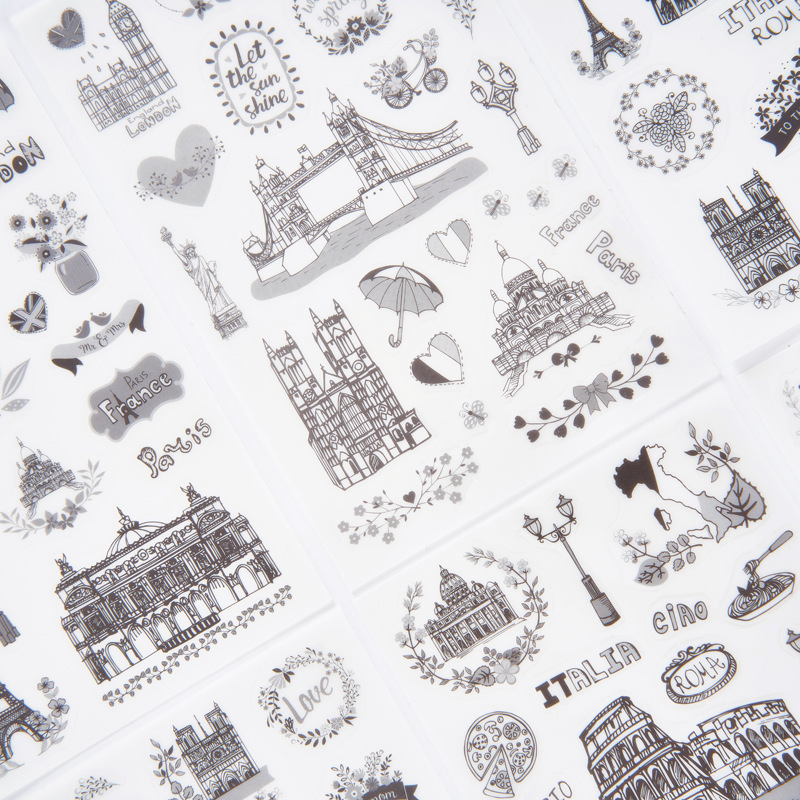 6 Pcs/pack Meet World Broad Decorative Stationery Stickers Scrapbooking DIY Diary Album Stick Lable