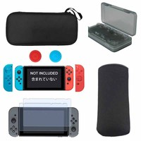 6 In 1 Kit For Nintendo Switch Hard Carrying Case Soft Carry Pouch Bag Silicon Case