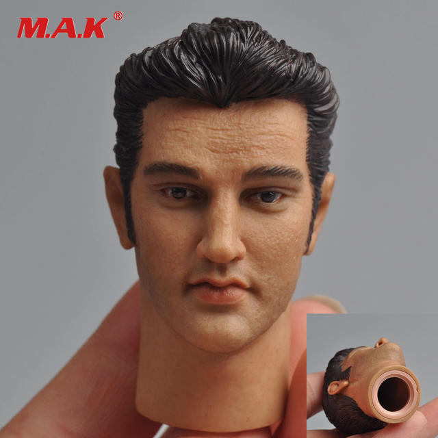 1/6 Scale Male Head Sculpt HeadPlay Elvis Presley Head Carving With Neck Joint For 12'' Action Figures Body