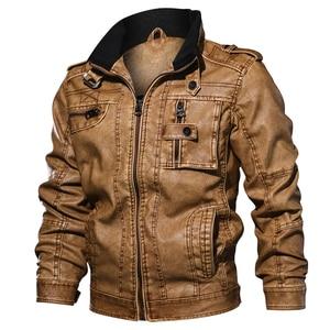 Image 2 - Повседневные мужские Куртки из искусственной кожи, спортивные куртки для мотоциклов 6XL 7XL