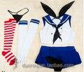 Anime Kantai collection Sailor suit Shimakaze Cosplay Costume Whole Set