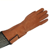 Free delivery sizzling promoting strengthened palm size 36cm real leather-based gloves security work shield put on resistant insulated gloves