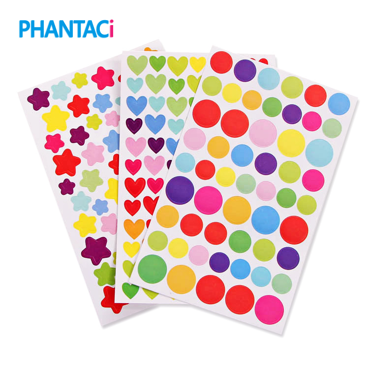 6 pcs/lot Cute Stickers Lovely Heart Stickers Colorful Love Heart Paper Sticker DIY Decoration Paper Post It Stickers