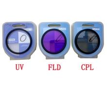 3 en 1 37 40.5 43 46 49 52 55 58 62 67 72 77mm objectif UV FLD CPL filtre numérique objectif pour canon nikon DSLR appareil photo reflex avec boîte