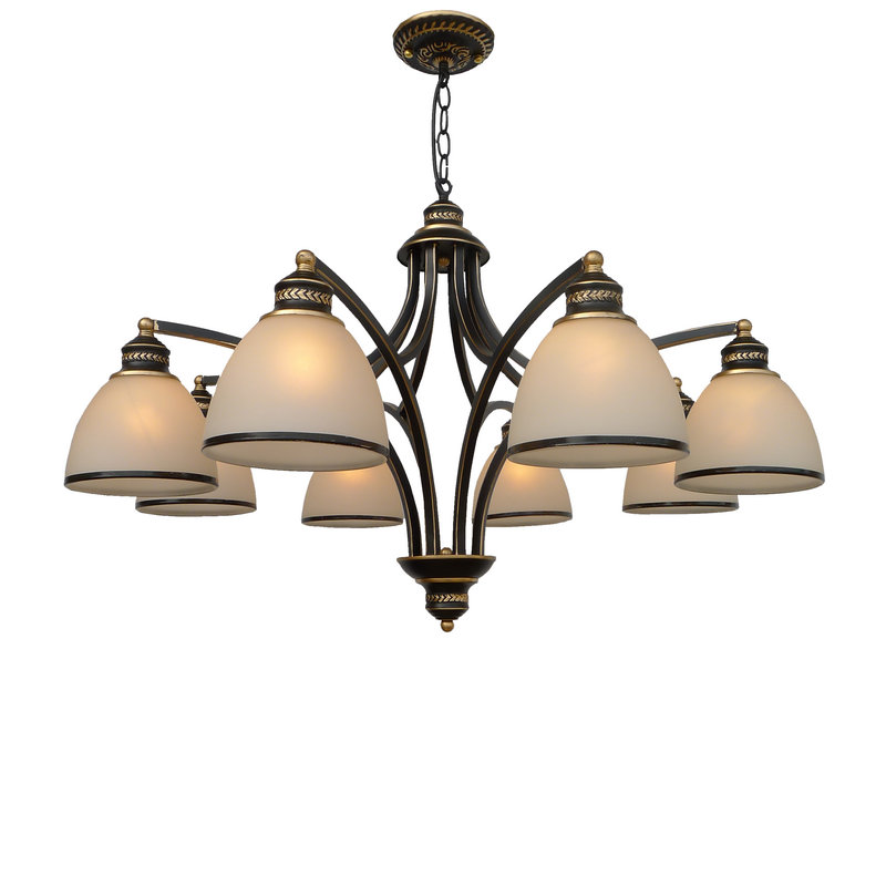 Multiple Chandelier 1/3/ 5/6/8 heads lamps glass + iro lighting dining room bedroom retro living room hotel light ZA10 iro w15091464233