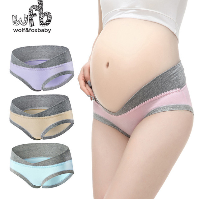 Retail cotton low-waisted plus size women's underwear briefs underwear briefs women's underwear Maternity clothing Maternity Panties